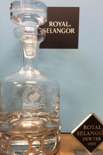 Engraved decanter